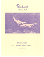 Beech B60 Price List 1981